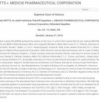 WATTS v. MEDICIS PHARMACEUTICAL CORPORATION [2016]