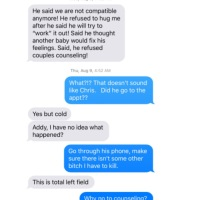 """He says we're not compatible anymore!"" Shan'ann Watts Texts: Night of August 8th after visit to Ultrasound Clinic and August 9th, 2018"
